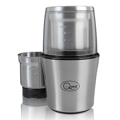 Quest Wet and Dry One Touch Grinder Spice Coffee Kitchen Food Processor 80g 200W