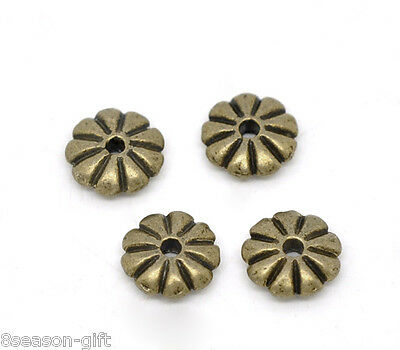 1000Pcs bronze tone 2mm round spacer beads findings h0285