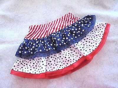 3 Star Holiday 4th of July Patriotic USA Fancy Tiered Skirt/Skort Baby Girls 2T