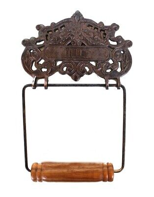 Aged Victorian French Style Wall Mount Toilet Paper Holder Oil Rubbed Bronze
