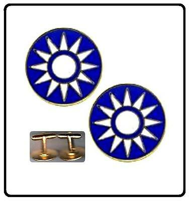 LAST OF the Flying Tigers ROC / Republic of China Starburst Cuff Links