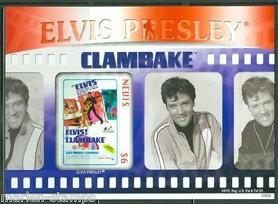 Nevis  Elvis Presley  'clam Bake'  Imperforate S/s Scott#1567  Mint Nh