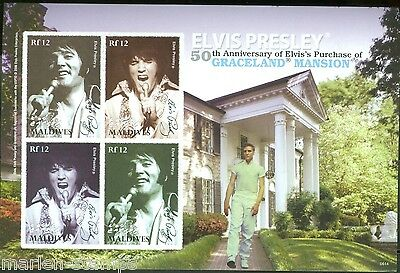 Maldives 50 Years Of Elvis' Graceland Sc#2893 Sheet   Imperforated Mint Nh