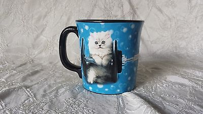 Kitty Cat Weightlifting Dumbbell Coffee Mug Encore Group Keith Kimberlin