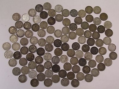 108 Canada silver 5 cent FISH SCALES George V 1911 to 1920 coins
