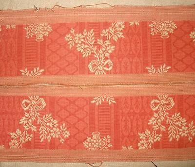 1.30m BEAUTIFUL 19th CENTURY FRENCH LINEN SILK SAMPLE ORIGINAL LABEL REF PROJECT