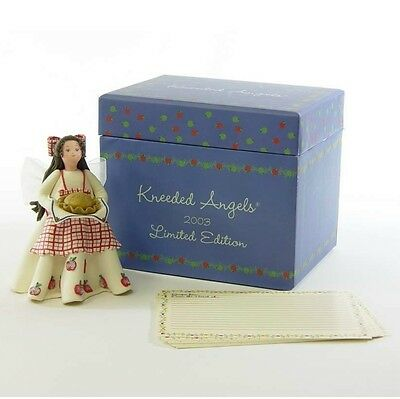 Spice of Life Kneeded Friend Angel with Apple Pie Figurine with Recipe and Cards