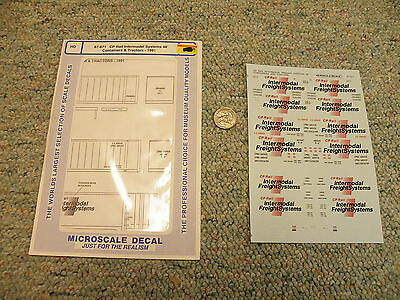 A-Line  decals HO Cat# 25813 CP Rail Intermodal 48/' Container decals  D10