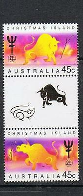 Stamps Australia  Christmas Island 1997 Year Of The Ox   Gutter Stamps  C 15