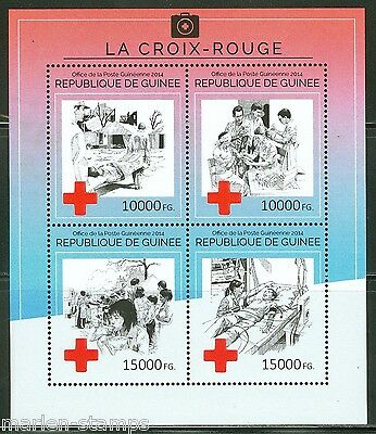 Guinea 2014 The Red Cross Sheet  Mint Nh  As Shown