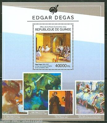 Guinea 2014 Edgar Degas   Paintings Souvenir Sheet Mint Nh