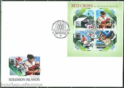 Solomon Islands  2013 Red Cross  Sheet First Day Cover