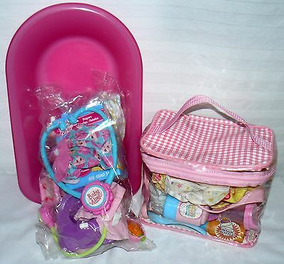 Lot Set Of Two Doll Accessory Sets Baby Alive And Unknown Doll Accessories