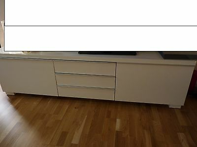 ikea besta burs tv bank schrank wei hochglanz super teil sideboard eur 88 90 picclick de. Black Bedroom Furniture Sets. Home Design Ideas