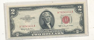 1953c $2 red seal note choice au