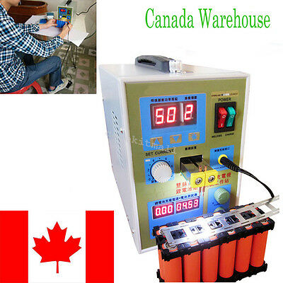 Effective LED Dual Pulse Spot Welder Battery Charger 800A 0.1-0.2 mm Canada Ship