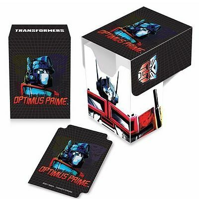 Ultra Pro Gaming Card Full View Deck Box Transformers Optimus Prime w/ Divider