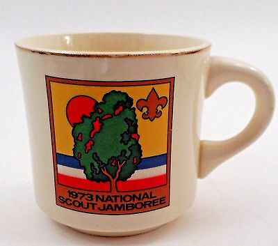BSA Boy Scouts of America Emblem 1973 National Scout Jamboree Sunset Tree Mug