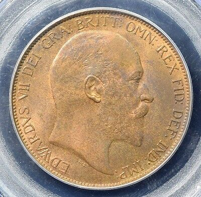 1902 Great Britain Penny - PCGS MS64 Red Brown