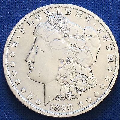1890-O UPPER'O' Morgan Silver Dollar $1 Coin 90% #H116