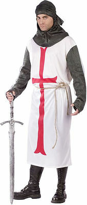 Adult Templar Knight Medieval Renaissance Costume One Size