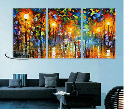 Modern Abstract 3 PC Wall Decor oil painting on art canvas Free Shipping
