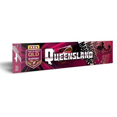 """""""QLD MAROONS Rugby League State Of Origin BUMPER STICKER"""" Licensed Product"""