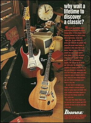 The 1993 Ibanez RT Series RT650 & 473S model guitar ad 8 x 11 advertisement