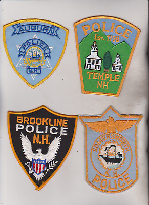 Brookline & Temple NH police patches