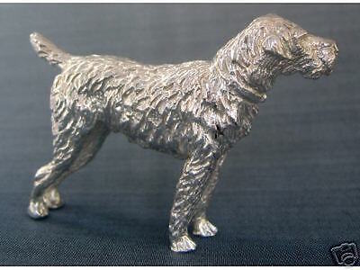 Miniature Sterling Silver Schnauzer German Dog Figurine