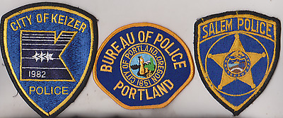 City of keizer, Portland & Salem OR Police patches