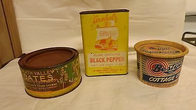 Dates - Spice Tin & Cottage Cheese Container