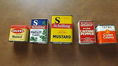 Lot Of Spice Tins