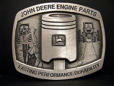 John Deere Backhoe Tractor Loader Engine Piston DEALER Belt Buckle 1994 Ltd Ed