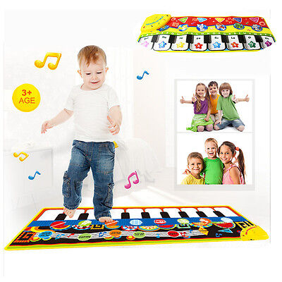 Musical Blanket Baby Kid Toy Piano Keyboard Touch Play Learn Singing Carpet Mat