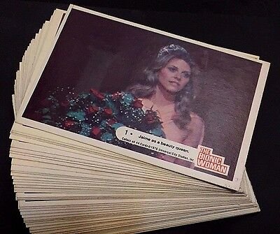 THE BIONIC WOMAN 1976 Donruss COMPLETE Trading Card SET (44) Very NIce!! Vintage