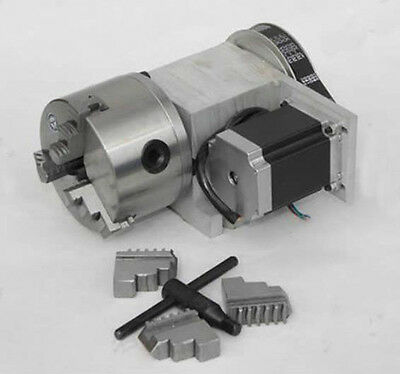 ECO Hollow Shaft 4Axis, Rotary Axis. 4th Axis A Axis for CNC Router 100mm Chuck