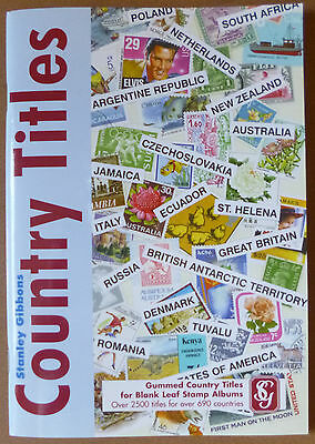 STANLEY GIBBONS Gummed COUNTRY TITLES - 2500 Titles for over 690 Countries