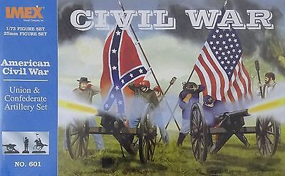 IMEX® #601 American Civil War Union & Confederate Artillery Set Figuren in 1:72