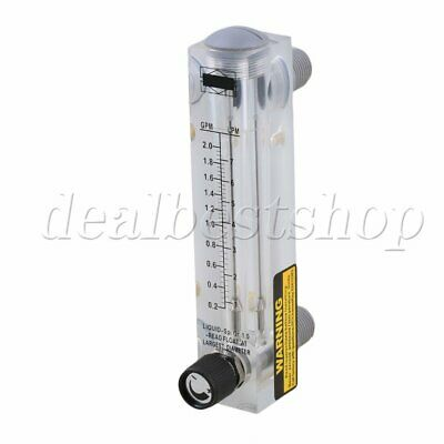 0.2-2.0GPM Panel Type Water Flow Meter Tool With Adjustable Knob LZM-15T
