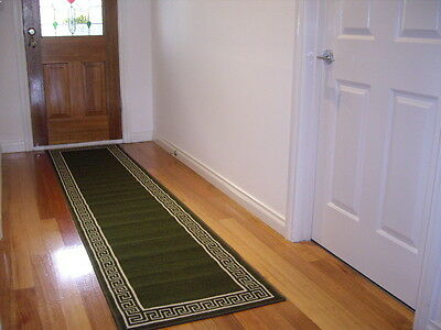 Hallway Runner Hall Runner Rug Modern Green 5 Metres Long FREE DELIVERY