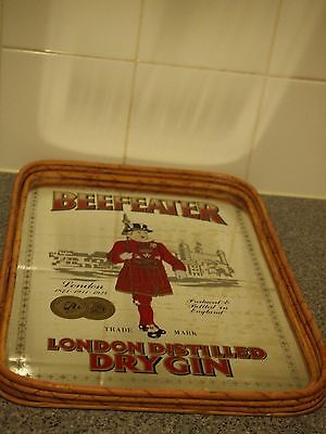 Vintage Beefeater Dry Gin Mirror Tray