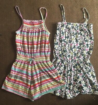 2 Girls Playsuits 7-8 Years (more Like 5-6)