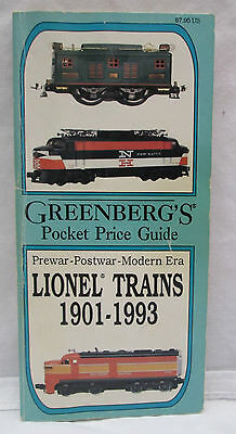 Greenberg's Pocket Price Guide to Lionel Trains, 1901-1993 by Bruce C....