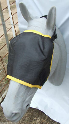 Ecotak Fly Mask Black mesh with yellow trim  Ecotak