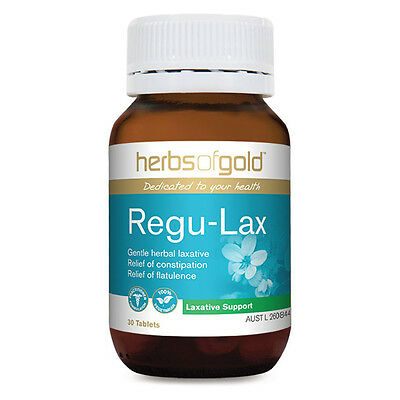 Herbs of Gold Regu Lax 30 tablets ( Herbal laxative for relief of constipation )