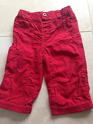 Baby Boys Red Trousers Next 6-9 Months