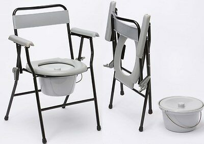 NRS Lightweight Folding Commode with Bedpan and Lid