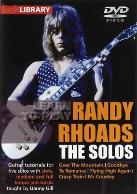 Learn To Play Randy Rhoads The Solos Lick Library Dvd !