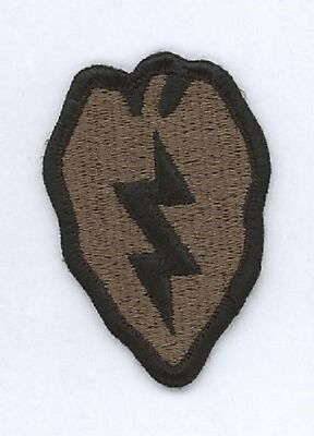 US Army 25th Infantry Division Tropic Lightning BDU Uniform patch Aufnäher oliv